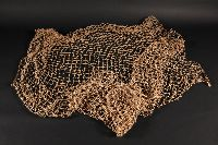 Replica of a fishing net made from vegetable fibres.